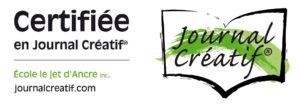 logo certifiée en journal créatif