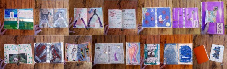 exemples de page du carnet de deuil par delphine rimaz caoch à fribourg